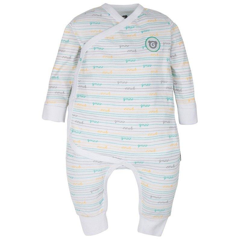 Gmini Plus Salopeta pentru bebelusi alb cu turquoise din categoria Salopeta de la Gmini