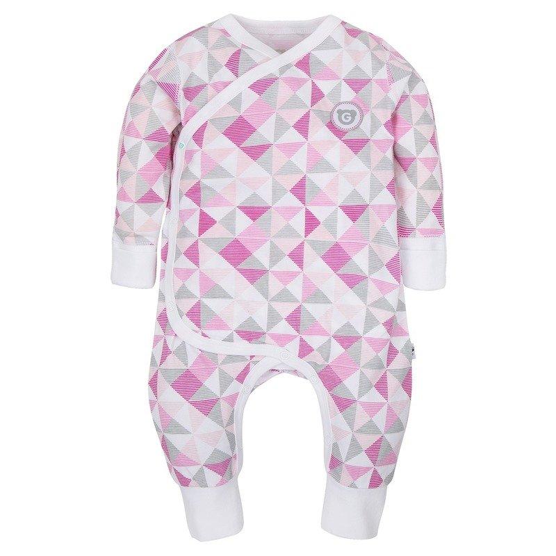 Gmini Salopeta pentru bebelusi Plus Pink- Figuri Geometrice