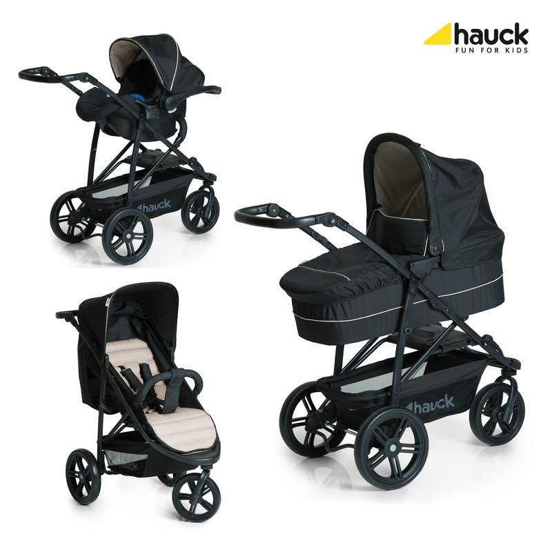 Hauck Set Carucior Rapid 3 Plus Trio Set Caviar/Beige din categoria Carucioare copii de la Hauck