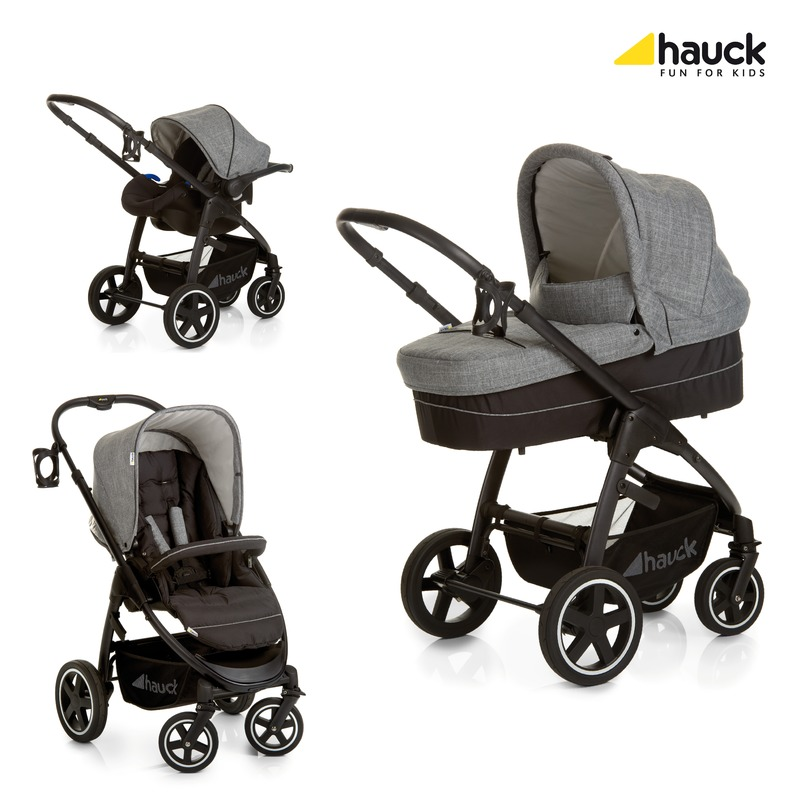 Hauck Set Carucior Soul Plus Trio Set Melange Grey/Caviar