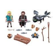 Playmobil - Hiccup, Astrid si pui de dragon