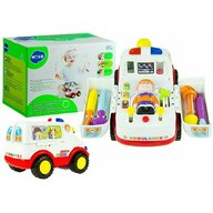Hola Toys - Ambulanta cu accesorii, cu lumini si sunete