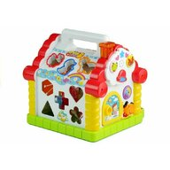 Hola Toys - Casuta educativa, Happy House, Cu sortator si pian