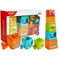 Huanger Toys - Jucarie 2 in 1, de sortare si stivuire