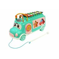 Huanger Toys - Jucarie autobuz, cu sortator si xilofon