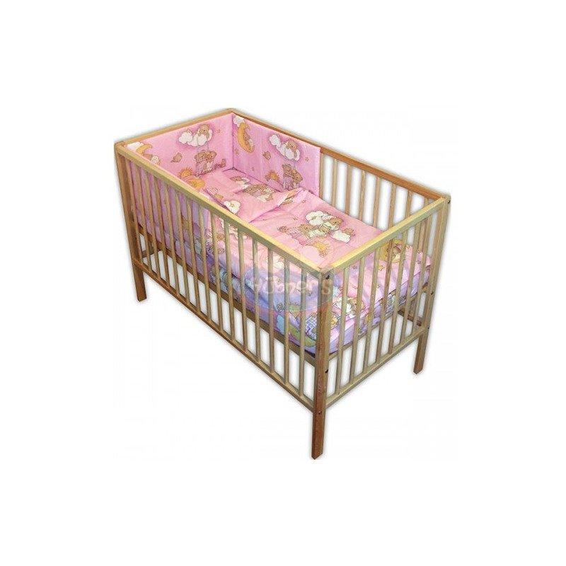 Hubners Lenjerie patut Ursulet Somn Usor 4 piese roz din categoria Lenjerie patuturi de la Hubners
