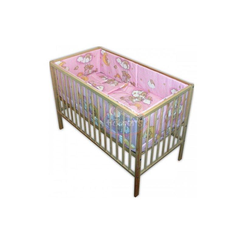 Hubners Lenjerie patut Ursulet Somn Usor 5 piese roz din categoria Lenjerie patuturi de la Hubners