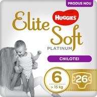 Huggies - Elite Soft Pants Platinum (6) Mega 26 buc, 15+ kg