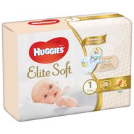 Huggies - Elite Soft (nr 1) Convi 26 buc, 3-5 kg