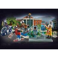 Playmobil - Set de constructie Cursa pe Hoverboard , Back to the Future