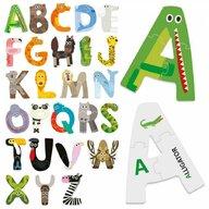 Headu - Puzzle educativ Alfabetul amuzant Puzzle Copii, piese 81