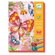 Djeco - Joc creativ cu sclipici Fluturi
