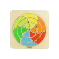 Masterkidz - Joc creativ Mozaic circular, din lemn, +18 luni,