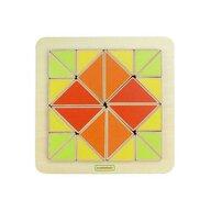 Masterkidz - Joc creativ Mozaic de triunghiuri, din lemn, +18 luni,