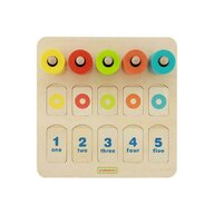 Masterkidz - Joc de numarat si sortator de culori, din lemn, +3 ani,