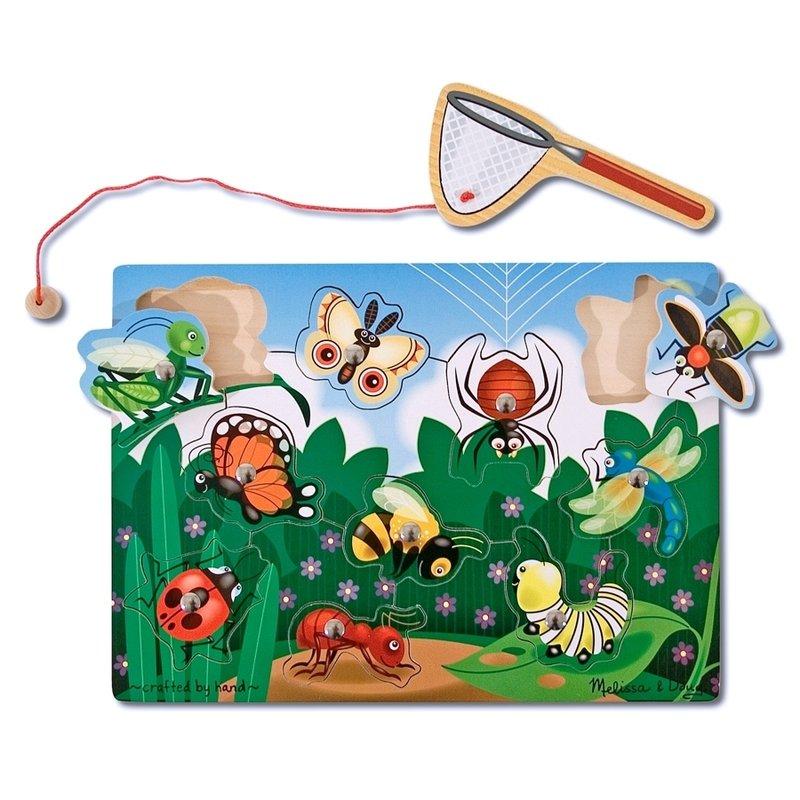 Joc din lemn magnetic Prinde insectele Melissa and Doug din categoria Puzzle copii de la Melissa & Doug