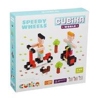Cubika - Set de constructie Speedy Wheels World