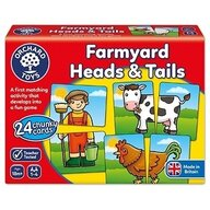 Orchard Toys - Joc educativ asociere Prietenii de la ferma - Farmyard heads & tails