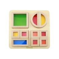 Masterkidz - Joc educativ Cuburi Culori Transparente, din lemn, +2 ani,