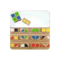 Masterkidz - Joc educativ Cuburi in oglinda, din lemn, +3 ani, , pentru gradinite