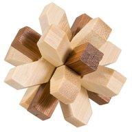 Fridolin - Joc logic IQ din lemn bambus in cutie metalica-321