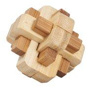 Fridolin - Joc logic IQ din lemn bambus in cutie metalica-5