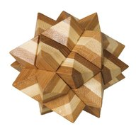 Fridolin - Joc logic IQ din lemn bambus Star