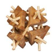 Fridolin - Joc logic IQ din lemn bambus Sticks&triangles