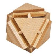 Fridolin - Joc logic IQ din lemn bambus Triangleblock