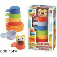 RS Toys - Jucarie pentru sortat si stivuit Piramida, Multicolor