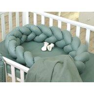 Jolie - Suport de dormit Baby nest Pure Impletit, 210x21 cm, Verde