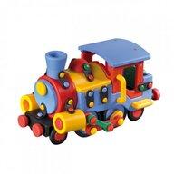 Mic o Mic - Set de constructie Locomotiva 3D, 19.1 cm