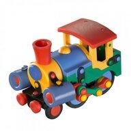 Mic o Mic - Set de constructie Locomotiva 3D, 15 cm