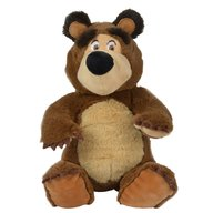 Simba - Jucarie de plus Masha and the Bear, Bean Bag Bear 20 cm