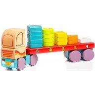 Cubika - Jucarie pentru sortat si stivuit Camion cu forme geometrice