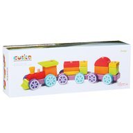 Cubika - Jucarie pentru sortat si stivuit Trenulet, pcs  15