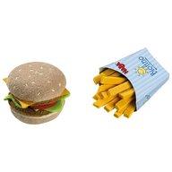 Haba - Jucarie din plus, hamburger si cartofi prajiti, 3 ani+