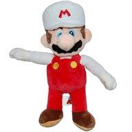 Play by Play - Jucarie din plus Mario 30 cm, Cu sapca Super Mario, Alb