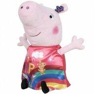 Play by Play - Jucarie din plus 17 cm, Cu rochie din satin Peppa Pig, Rosu