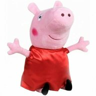 Play by Play - Jucarie din plus 25 cm, Cu rochie din satin Peppa Pig, Rosu