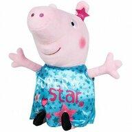 Play by Play - Jucarie din plus 25 cm, Cu rochie din satin Peppa Pig, Turcoaz