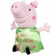 Play by Play - Jucarie din plus 17 cm, Cu rochie din satin Peppa Pig, Verde