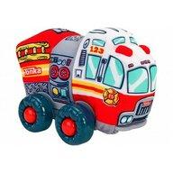 Globo - Jucarie moale pentru copii tip masina de Pompieri Tonka cu sunete cu roti si accesorii din plastic, Rosu