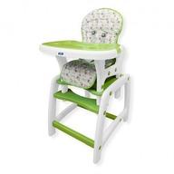 Scaun de masa Juju Eat&Play, Verde