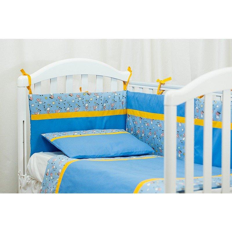 Kidsdecor Lenjerie de pat 2 piese Blanite bleu 80 x 100 cm