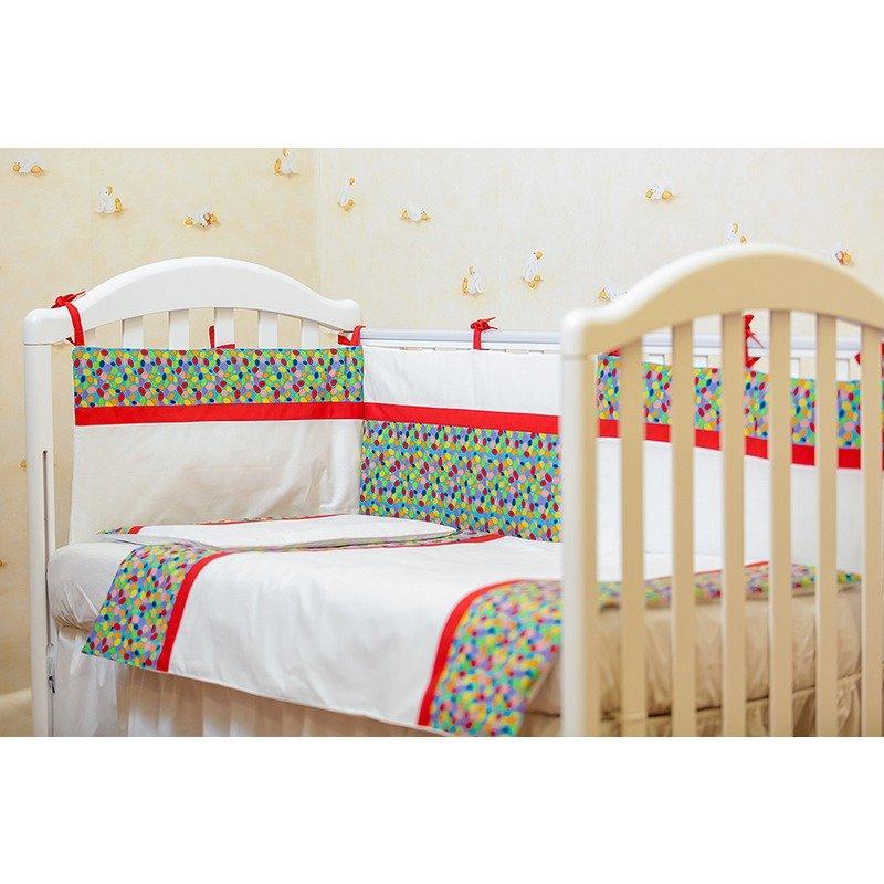 Kidsdecor Lenjerie de pat 2 piese Maruntei bleu cu rosu 80x100 cm din categoria Lenjerie patuturi de la Kids Decor