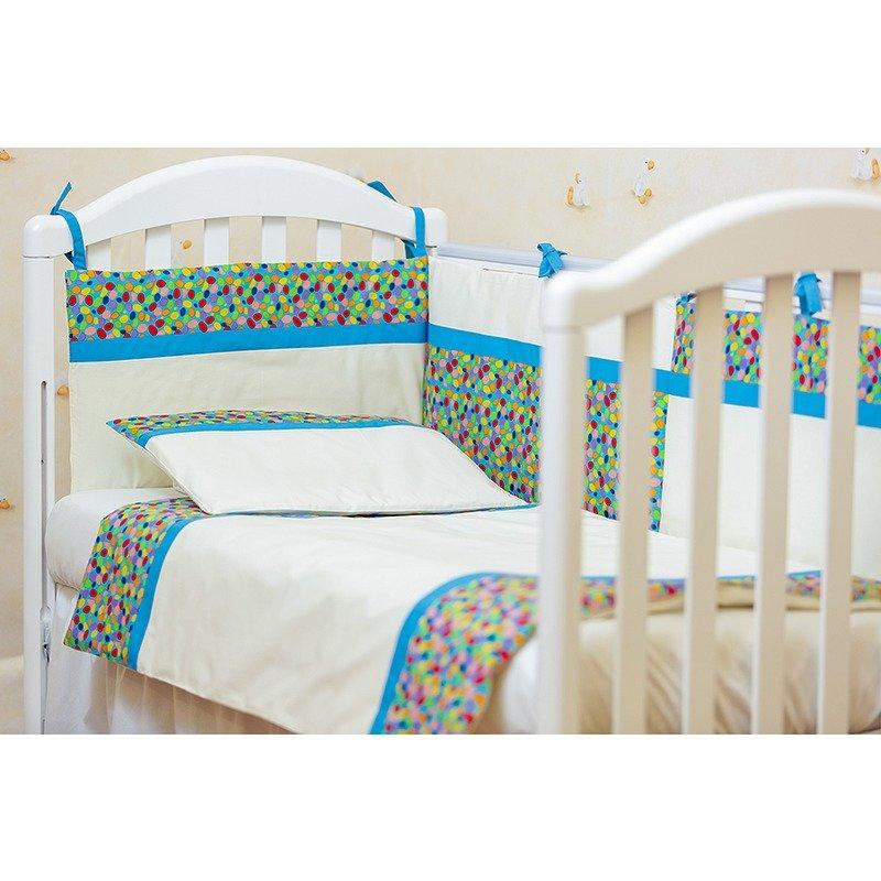 Kidsdecor Lenjerie de pat 2 piese Maruntei bleu cu turcoaz 80x100 cm din categoria Lenjerie patuturi de la Kids Decor