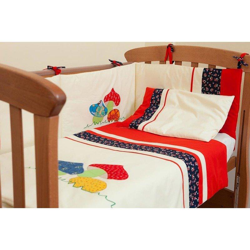 Kidsdecor Set de pat 2 piese Ciupercute 100×135 din categoria Lenjerie patuturi de la Kids Decor