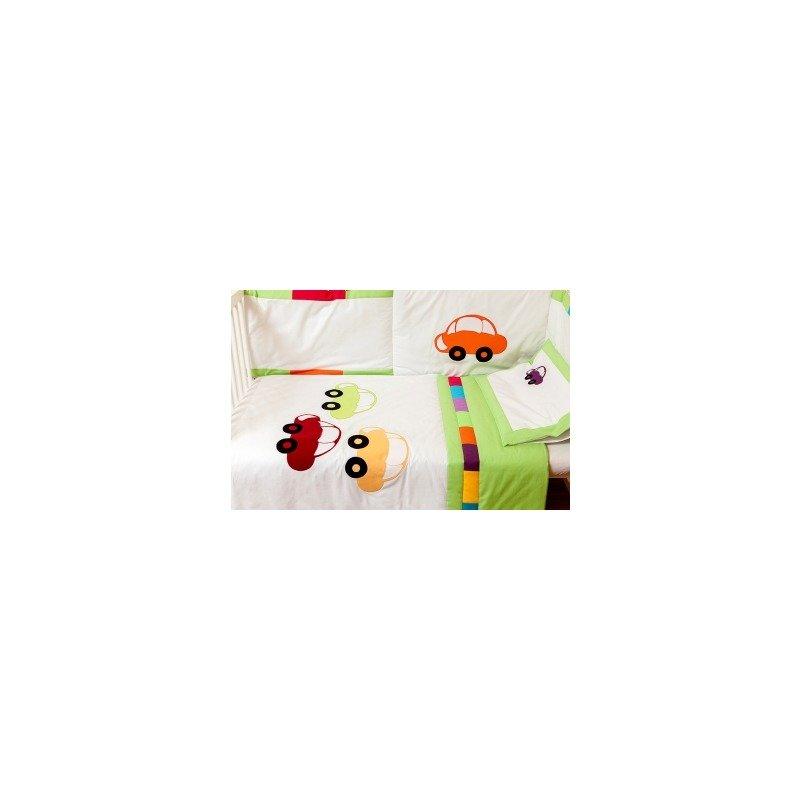 Kidsdecor Set de pat 4 piese Masinute brodate new born din categoria Lenjerie patuturi de la Kids Decor