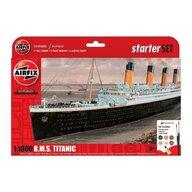 Airfix - Kit constructie Nava de croaziera R.M.S. Titanic Gift Set, scara 1:1000